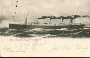 """""""Το 'Αγνωστο Ναυάγιο της Κ�ας"""" την εποχή που ταξίδευε σαν, Schnellpostdampfer S/S Kaiser Friedrich"""