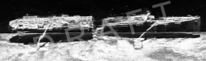 """Αποτύπωση """"Tου Αγνώστου Ναυαγίου της Κ�ας"""" απο το side scan sonar του Πανεπιστημίου Πατρών"""